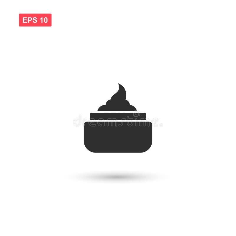 La conception crème de vecteur d'icône de cheveux a isolé illustration de vecteur