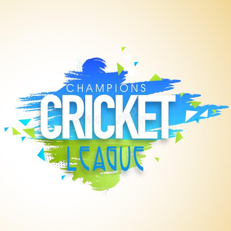 La conception d'affiche ou de bannière pour le cricket soutient la ligue illustration de vecteur