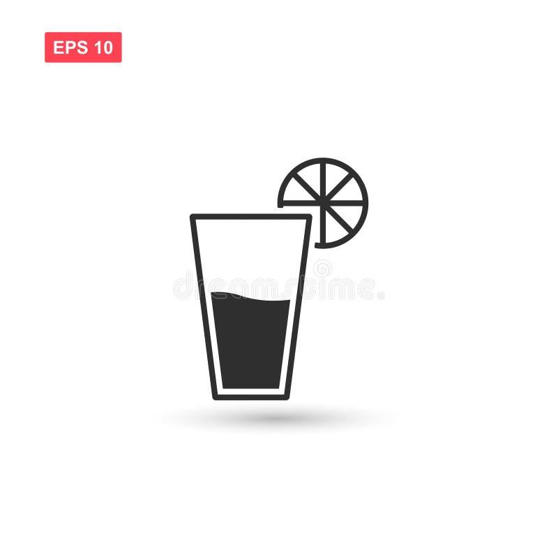 La conception d'icône de vecteur en verre et de chaux de tequila a isolé 2 illustration de vecteur