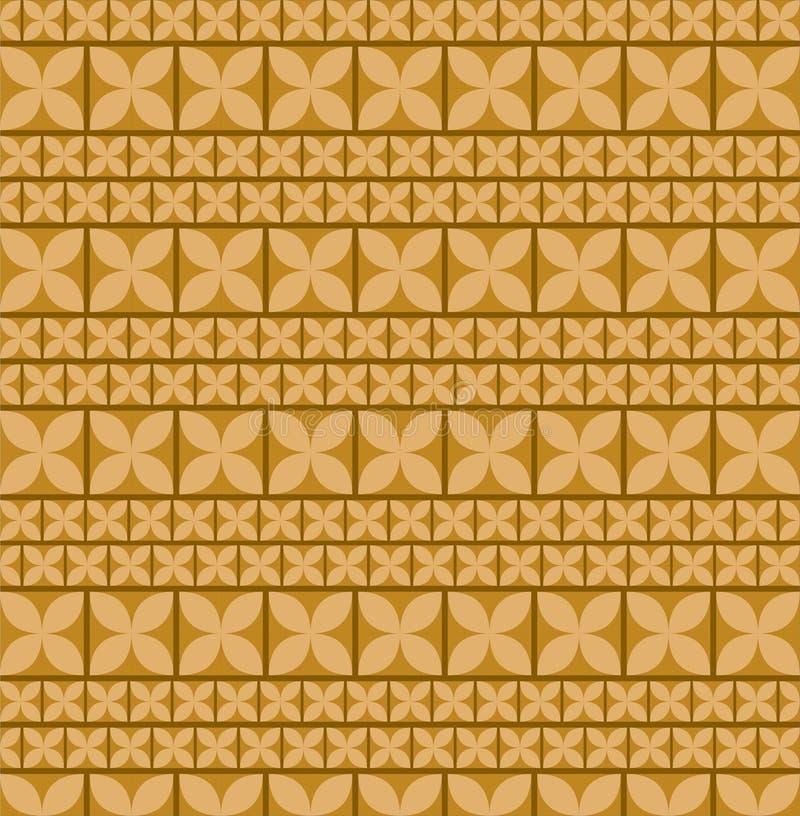 La conception de batik de Brown illustration libre de droits