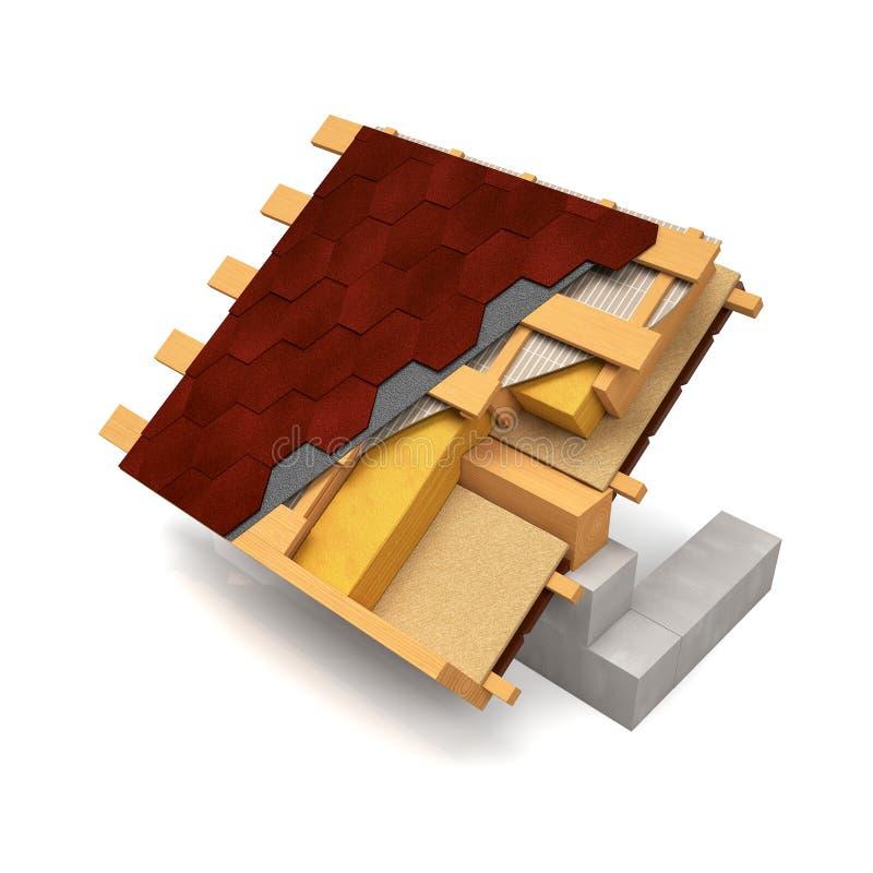 La conception de coupe du toit illustration de vecteur