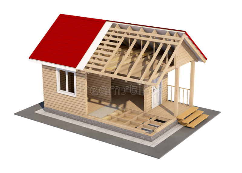 La conception de la maison photo stock