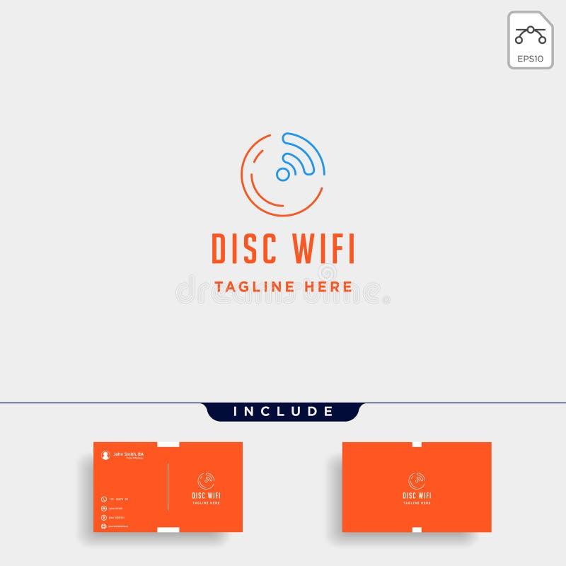 la conception de logo d'Internet de jeu de musique dirigent le symbole en ligne de médias d'isolement illustration libre de droits
