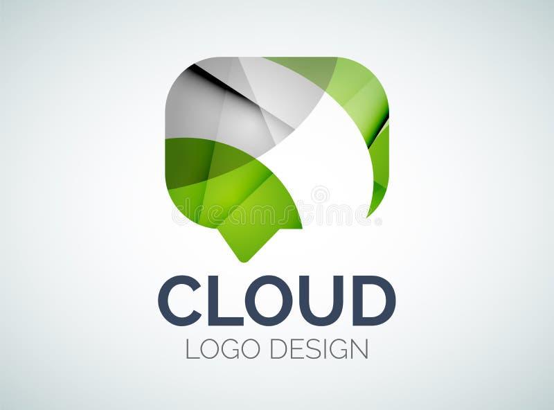La conception de logo de nuage de causerie faite en couleur rapièce illustration de vecteur
