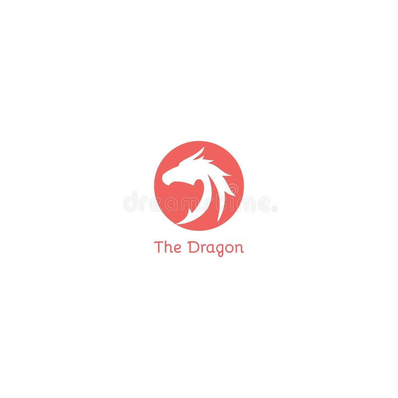 La conception de logo de dragon calibre de vecteur d'icône de Dan de symbole illustration libre de droits