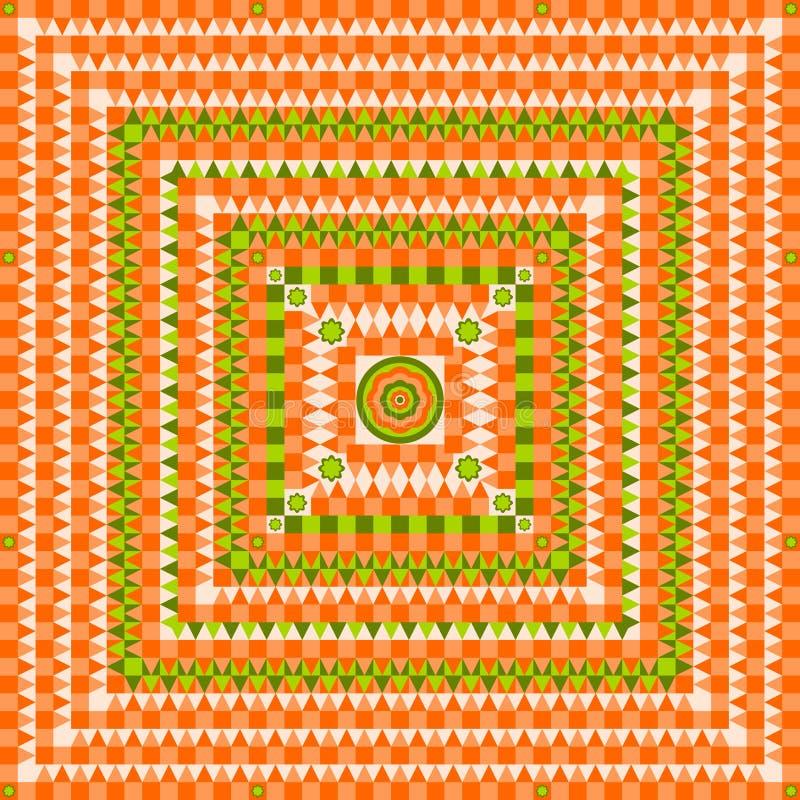 La conception de modèle avec des places, les triangles et les cercles conçoivent l'illustration illustration stock