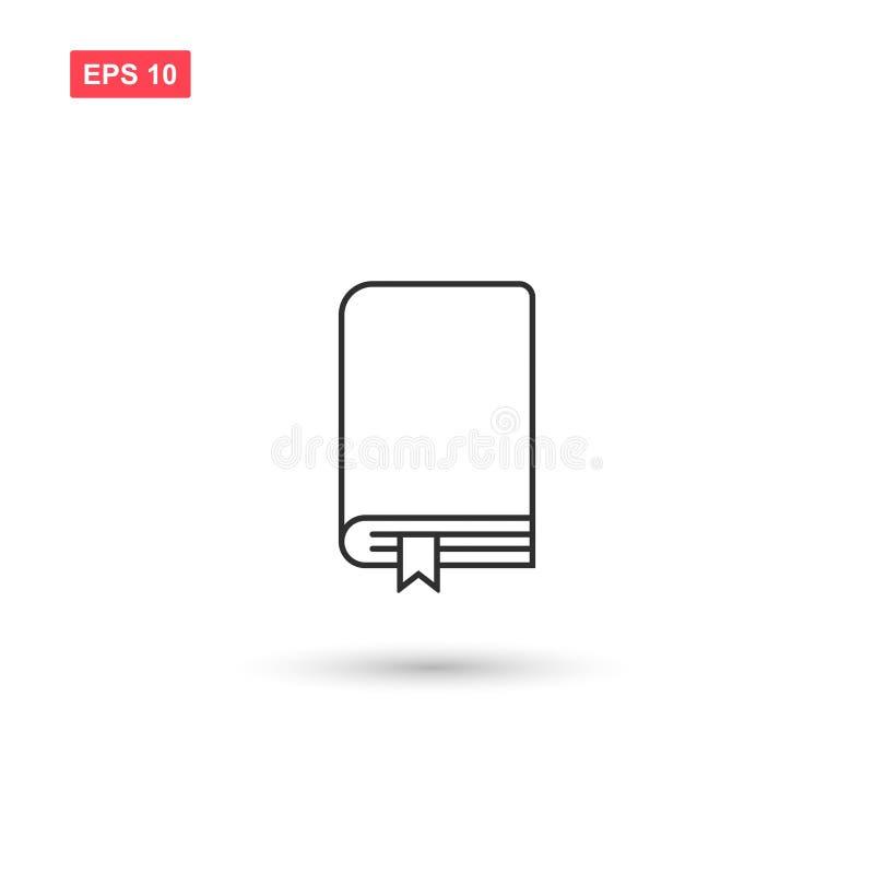 La conception de vecteur d'icône de repère de livres a isolé 4 illustration libre de droits
