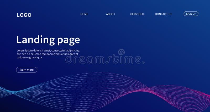 la conception procurable eps8 formate le site Web de descripteur de JPEG Conception moderne de débarquement de page pour le site  illustration stock