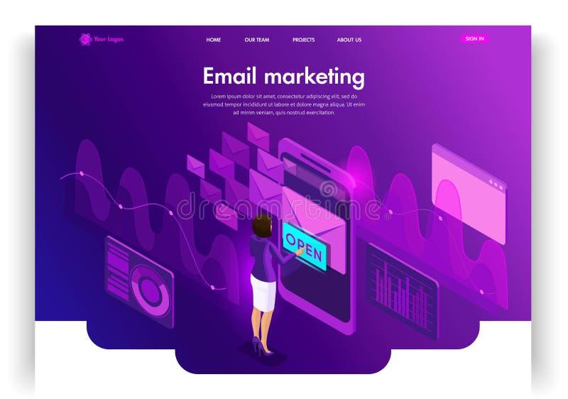 la conception procurable eps8 formate le site Web de descripteur de JPEG Vente isométrique d'email d'email de concept Recherche d illustration stock