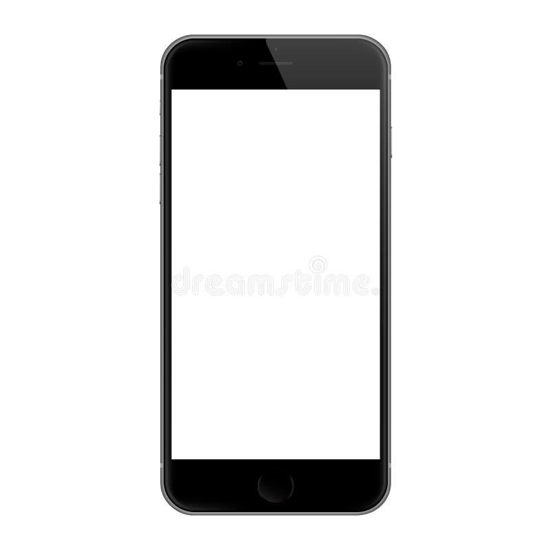 La conception réaliste de vecteur d'écran en blanc de l'iphone 6, l'iphone 6 s'est développée par Apple Inc illustration libre de droits