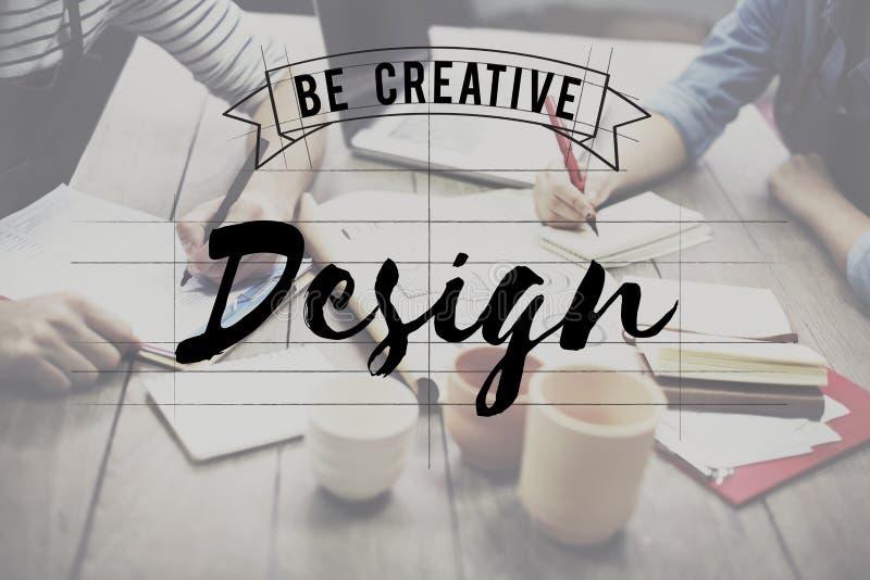 La conception soit Art Graphic Concept créatif photos libres de droits