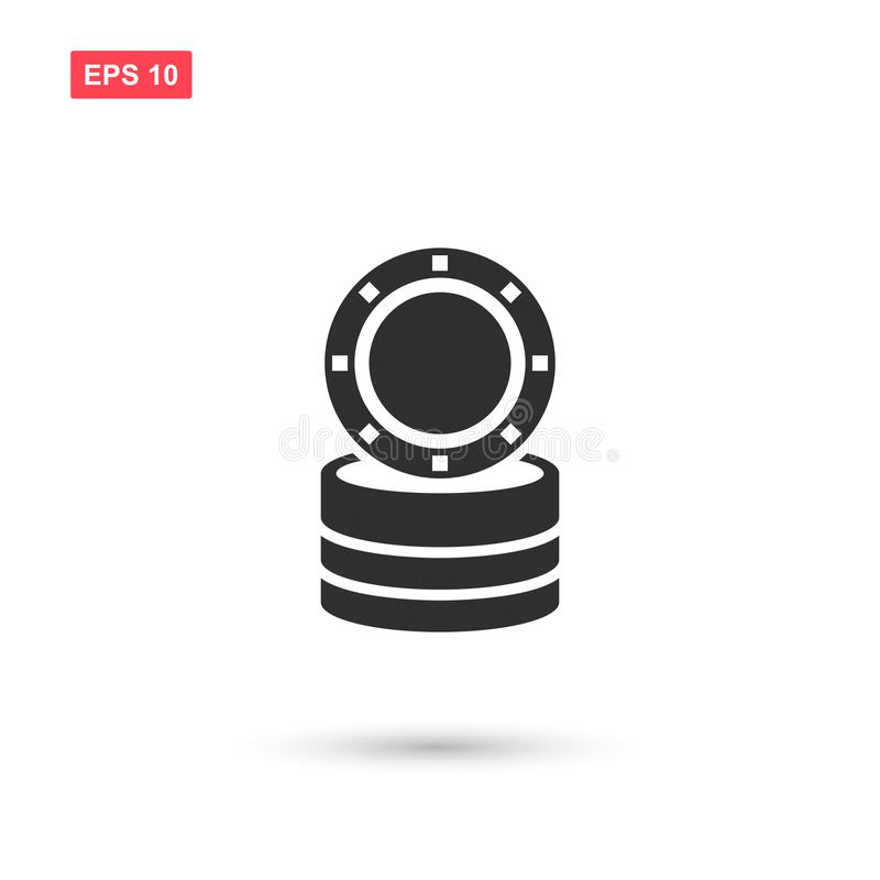 La conception symbolique d'icône de vecteur de casino a isolé illustration libre de droits