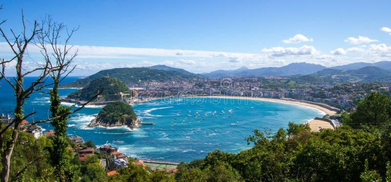 La Concha Beach San Sebastián stockbild