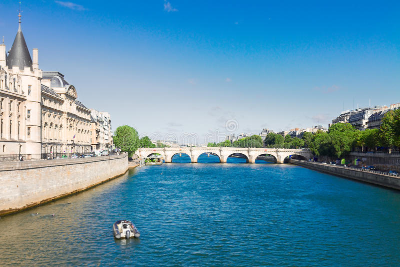 La Conciergerie and Pont Neuf, Paris, France royalty free stock image