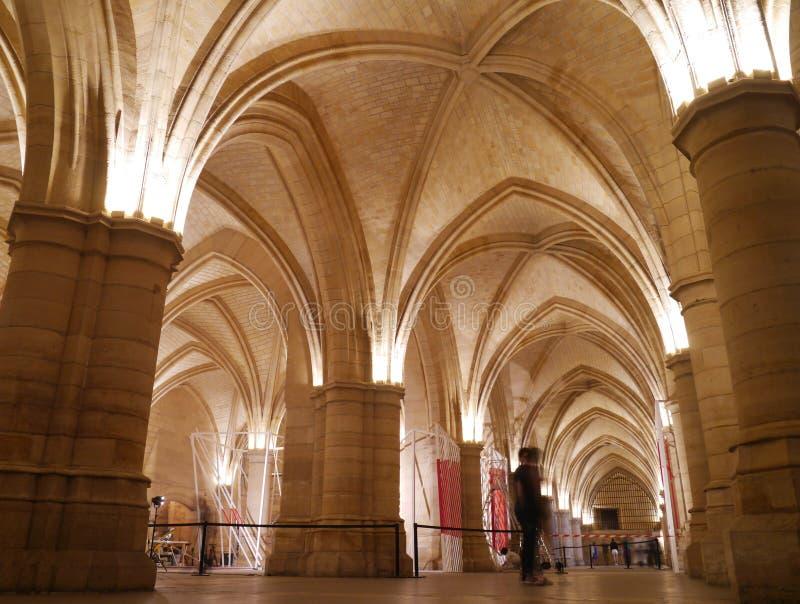 La Conciergerie - prisión gótica de París de Marie Antoinette imagenes de archivo