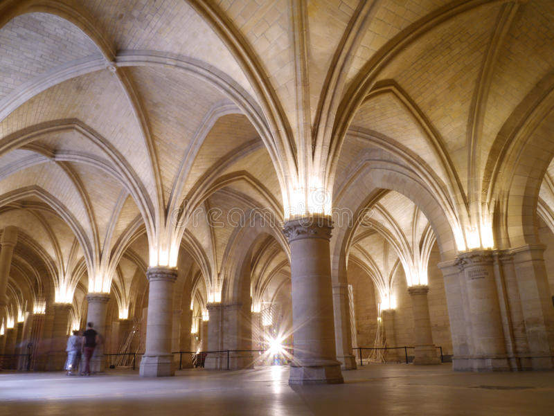 La Conciergerie - prisión gótica de París de Marie Antoinette foto de archivo libre de regalías