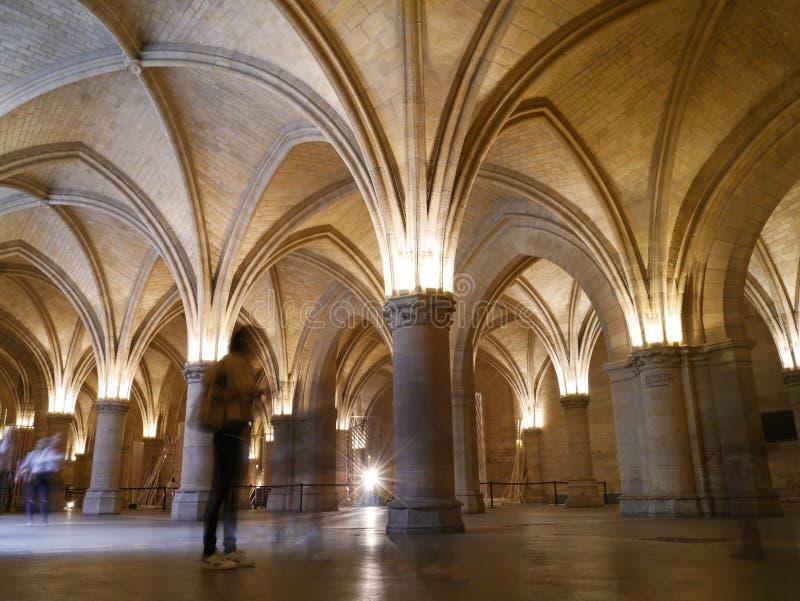 La Conciergerie - prison gothique de Paris de Marie Antoinette photo libre de droits