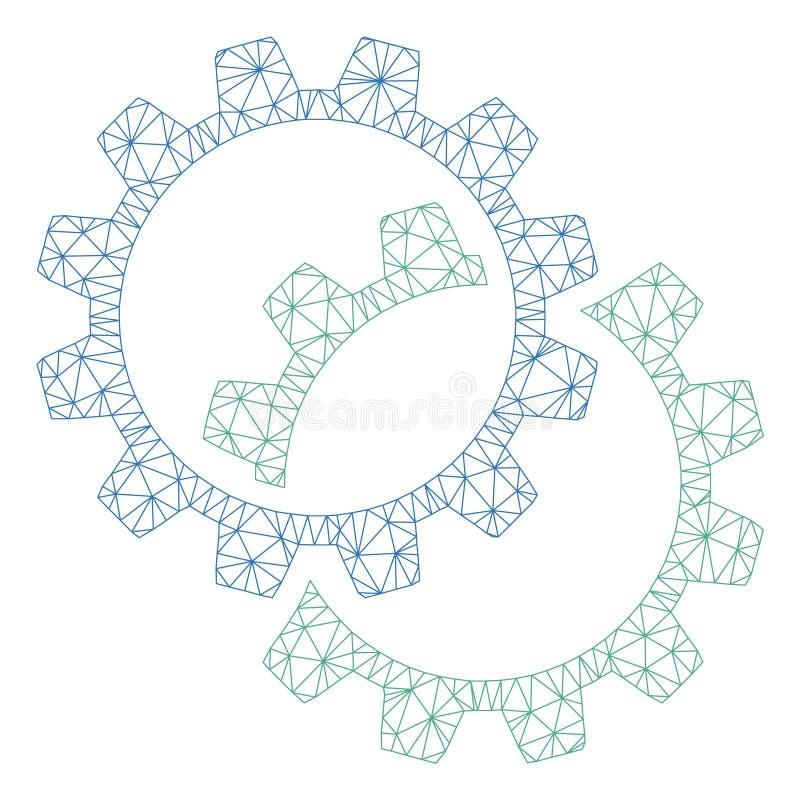 La configuraci?n adapta el vector poligonal Mesh Illustration del marco ilustración del vector