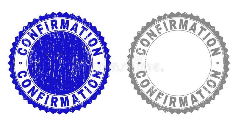 La CONFIRMATION grunge a rayé des filigranes illustration de vecteur