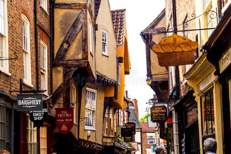 La confusión en York, Inglaterra imágenes de archivo libres de regalías