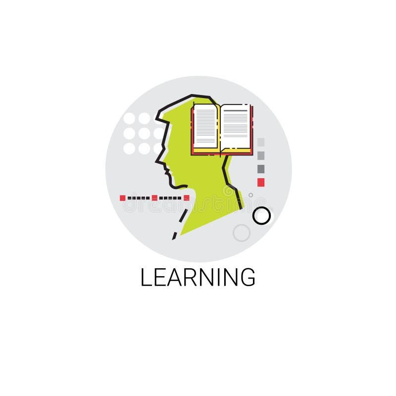 La connaissance apprenant l'icône en ligne d'éducation illustration libre de droits