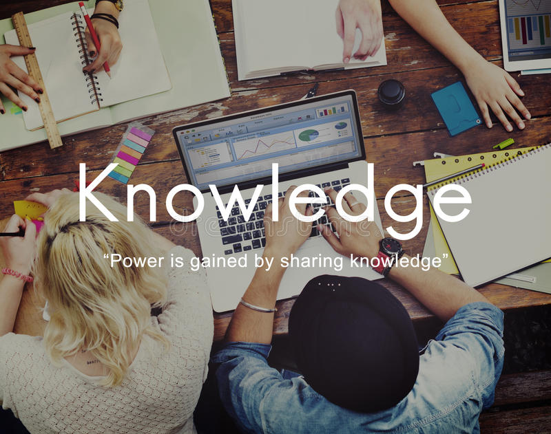 La connaissance apprennent le concept de graphique de personnes d'éducation image libre de droits