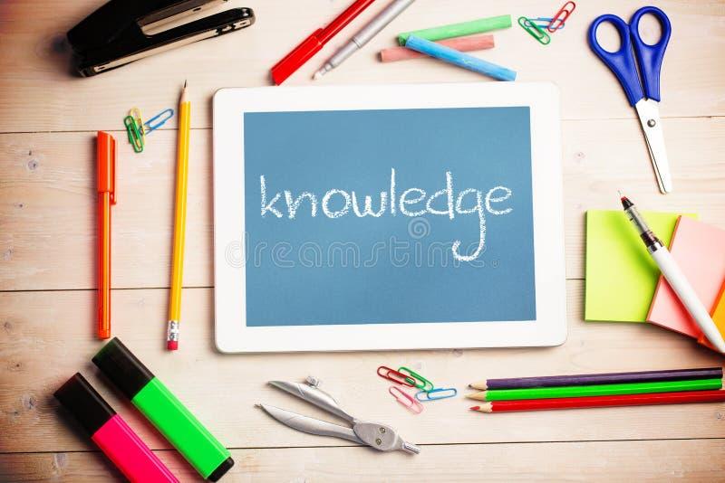 La connaissance contre le bleu illustration de vecteur