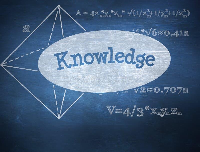 La connaissance contre le tableau bleu illustration de vecteur