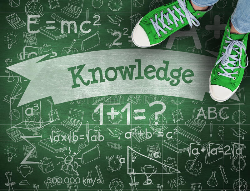 La connaissance contre le tableau vert illustration stock