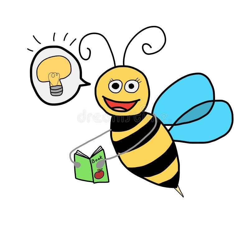 La connaissance de recherche d'abeille illustration stock