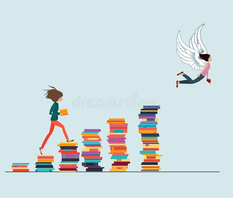La connaissance donne des ailes illustration stock