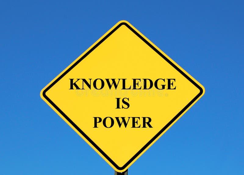 La connaissance est pouvoir image libre de droits