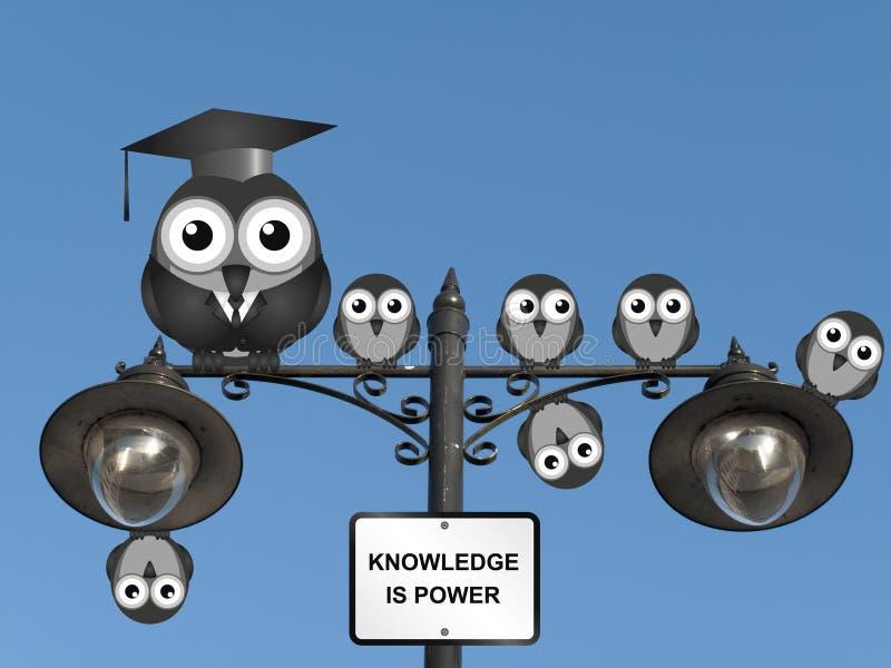 La connaissance est pouvoir illustration stock