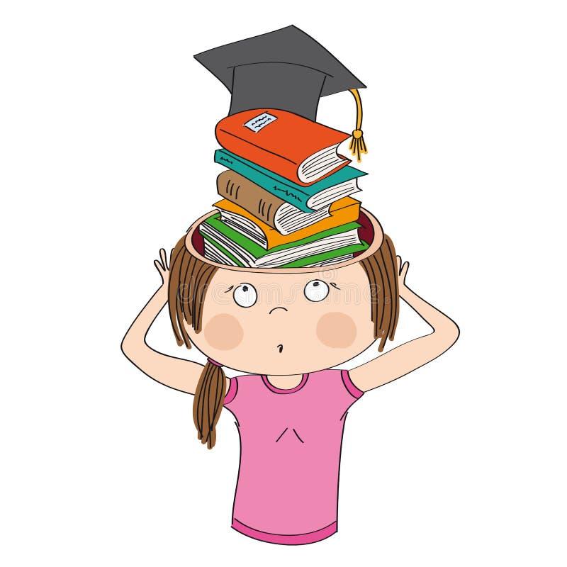 La connaissance et éducation Livres au lieu de cerveau illustration de vecteur
