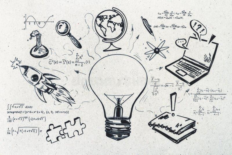 La connaissance et concept de la science photo libre de droits