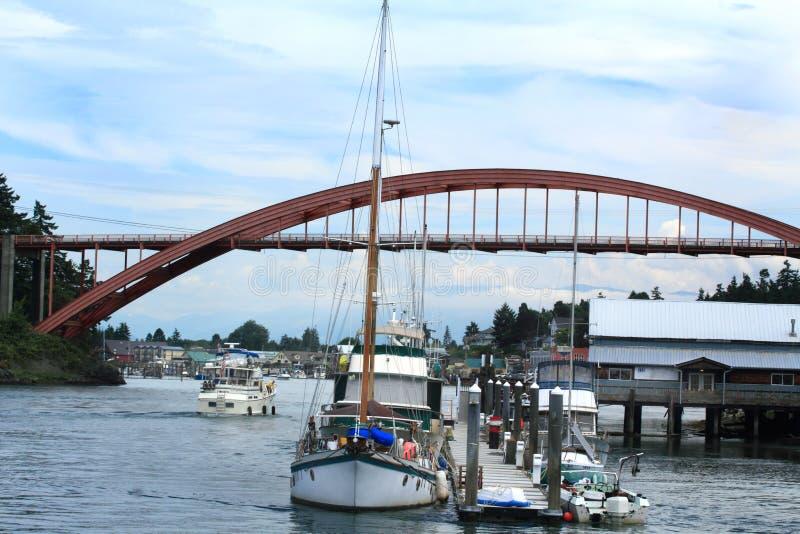 La Conner Waterway imagenes de archivo