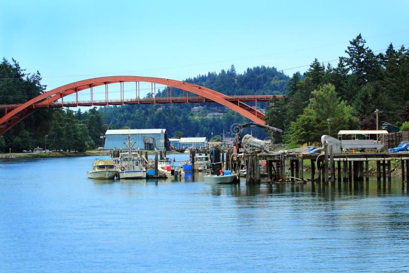 La Conner Waterway fotos de archivo