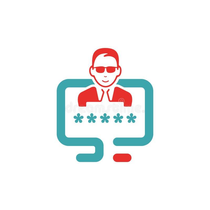 La connexion de l'utilisateur ou authentifient l'illustration de vecteur d'icône illustration de vecteur
