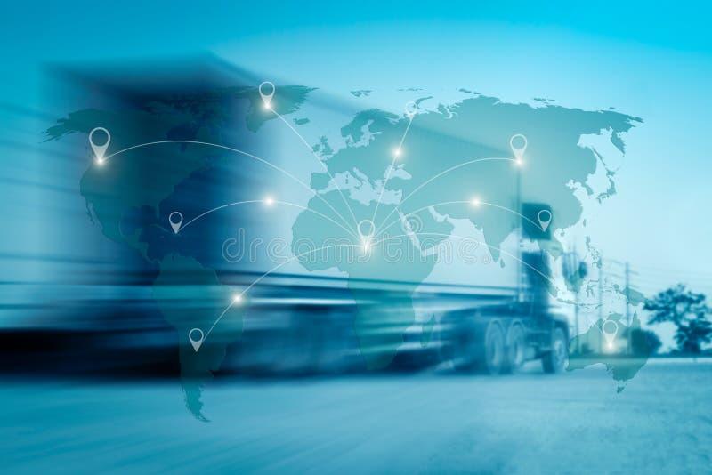 La connexion internationale de carte du monde relient le réseau images libres de droits
