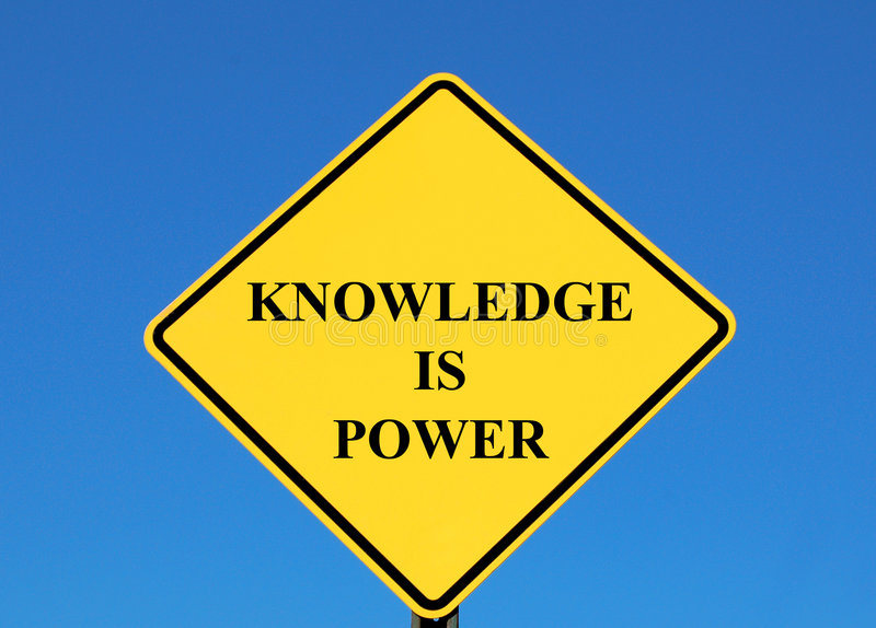 La conoscenza è potenza immagine stock libera da diritti