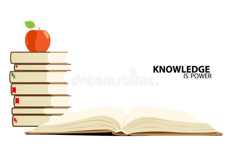 La conoscenza è potenza illustrazione di stock