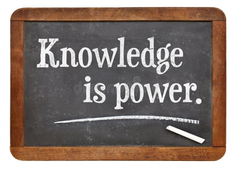 La conoscenza è potenza immagini stock