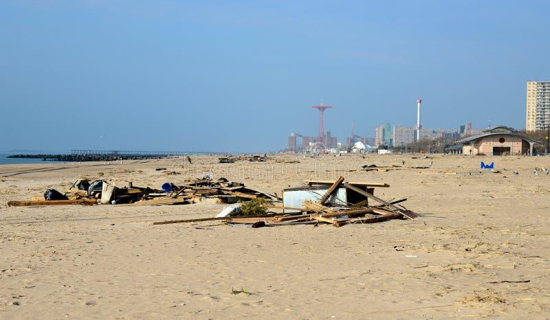 La conséquence de Sandy d'ouragan photographie stock