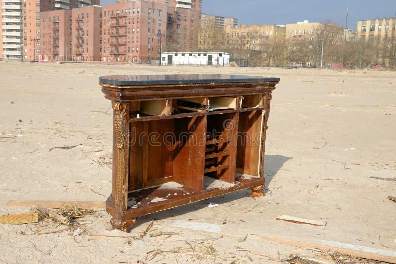 La conséquence de Sandy d'ouragan image stock