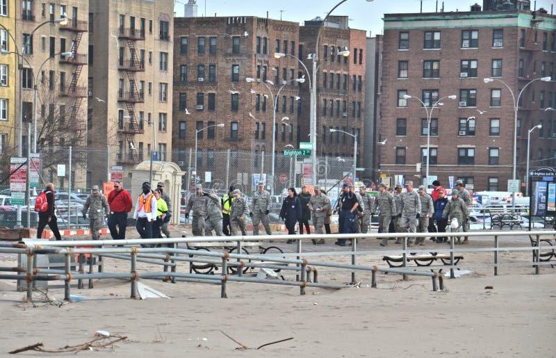 La conséquence de Sandy d'ouragan photo stock