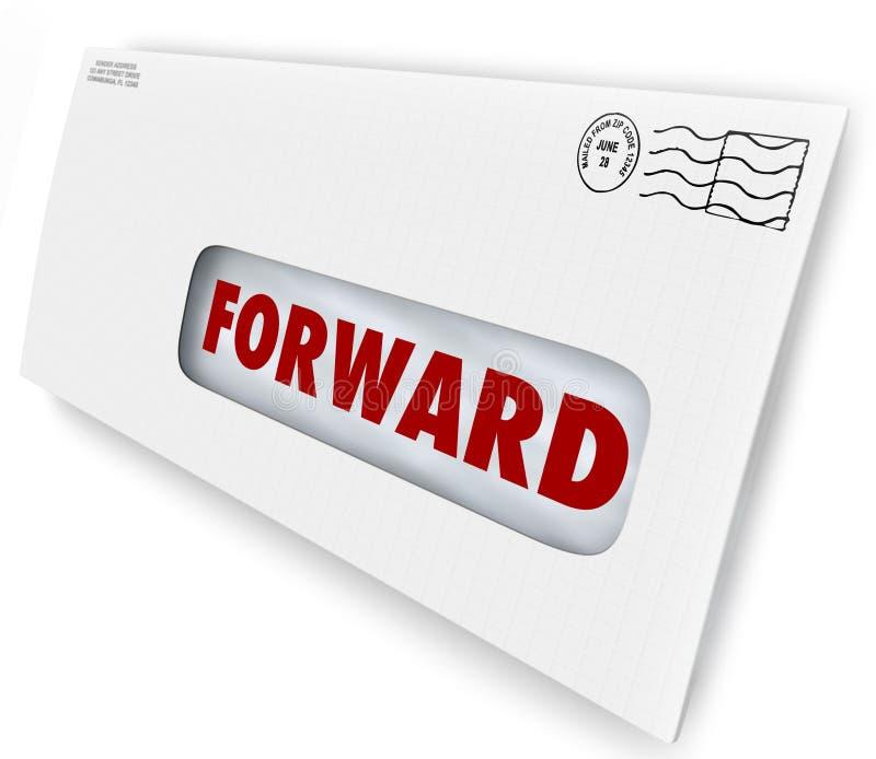 La consegna di andata di arresto di vacanza della posta invia il nuovo indirizzo royalty illustrazione gratis