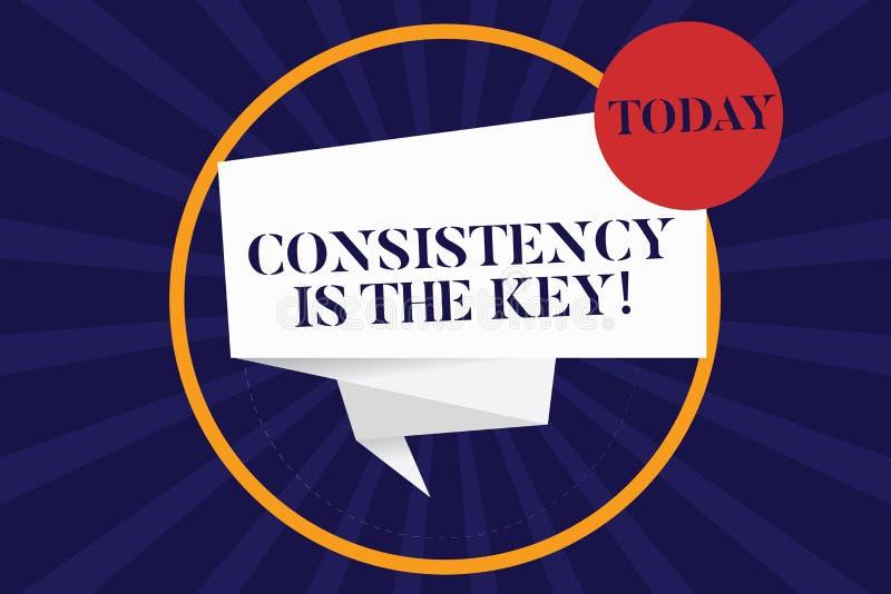 La consistencia del texto de la escritura es la llave Esmero completo del significado del concepto a una tarea un hábito que form libre illustration