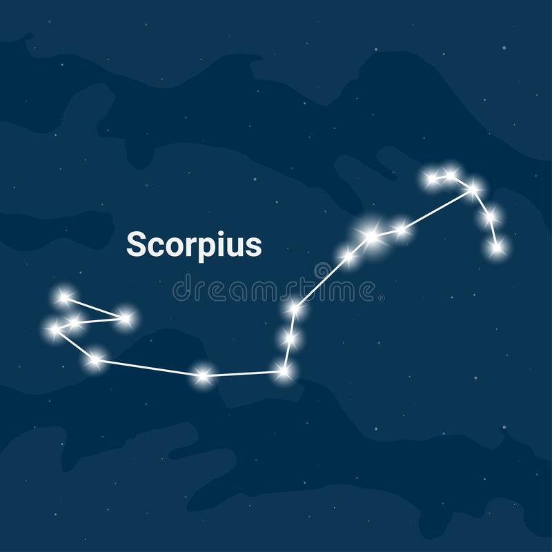 La constelación Scorpius o el escorpión - vector libre illustration