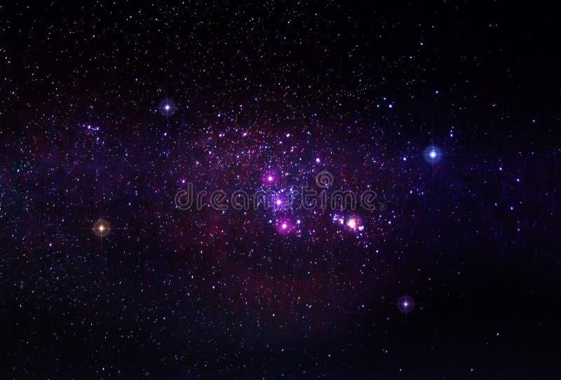 La constellation d'Orion avec la nébuleuse M42 images libres de droits