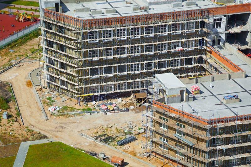 La construcción del nuevo edificio fotografía de archivo